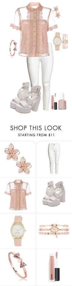 """i'm not your puppet (you're mine)"" by cadetremi ❤ liked on Polyvore featuring NAKAMOL, RED Valentino, Nine West, Ettika, MAC Cosmetics and Essie"