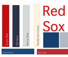 Paint Colors For DIY Home Improvement   Red Sox Colors For The Dresser Iu0027ll  Be Upcycling!