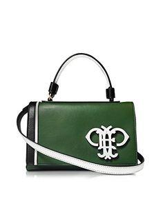EMILIO PUCCI Emilio Pucci Women'S 61Bd1061004260 Green/Black Leather Handbag. #emiliopucci #bags #shoulder bags #leather #