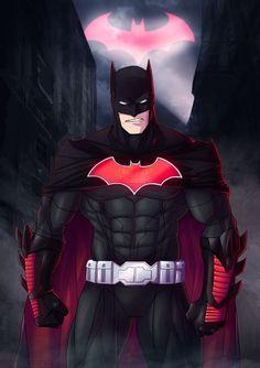 Flashpoint Batman by Serg Shamaev Batman Armor, Batman Suit, Batman And Superman, Batman Cowl, Funny Batman, Comic Books Art, Comic Art, Foto Batman, Batman Redesign