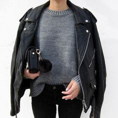 A great leather jacket is a wardrobe must have! // Follow /ShopStyle/ on Instagram to shop this look