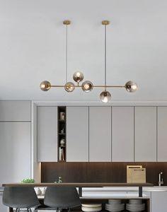 Orb Hanging lamp,Glass ball chandelier – mooielight The most effective chandelier is the main one with adjustable height When you have a small kitchen with a low ceili. Chandelier For Sale, Art Deco Chandelier, Modern Chandelier, Glass Chandelier, Home Lighting, Lighting Design, Küchen Design, House Design, Lights Over Dining Table