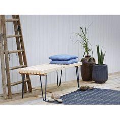 PLUS TRALLEBÆNK RETRO UBEHANDLET 140 CM - Havebænke & solvogne - Møbler - Havemøbler