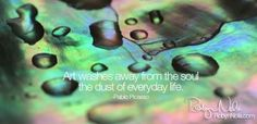 """""""Art washes away from the soul the dust of everyday life."""" -Picasso ♥ Photographic Art by Robyn Nola"""
