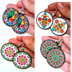 Polish folk art earrings by madebymada