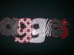 Texas A University Bling Rhinestone Machine Applique Tshirt via Etsy.