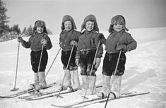 Little skiers at Rovaniemi, Finland.