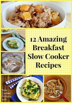 12 Amazon Breakfast Slow Cooker Recipes - yummy, breakfast recipes that are perfect for every family!