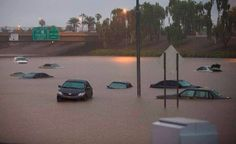 9/8 Rainiest day in Phoenix on record. 3.6 inches at the airport...5.6 inches in Chandler. This is I-10 near 43rd Ave. crazy.