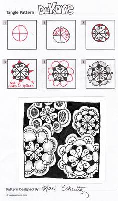 Tangle pattern: DeKore