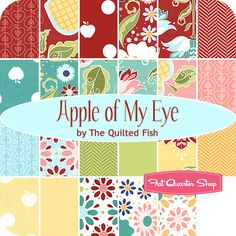 "First Ever Quilt fabric option 1. Apple of My Eye 5"" Stacker The Quilted Fish for Riley Blake Designs - Fat Quarter Shop"