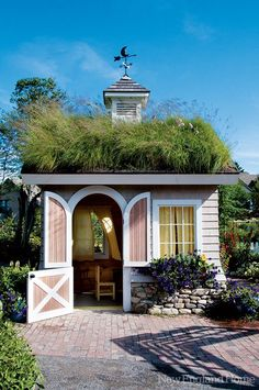 I need a Wendy house! The children's playhouse at the Coastal Maine Botanical Gardens, open daily year-round from 9 a.m.–5 p.m.