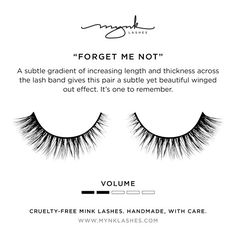 MYNK 'Forget Me Not' mink lashes from www.mynklashes.com #minklashes #mynklashes #mua #makeup #minkeyelashes #eyelashes #falsies