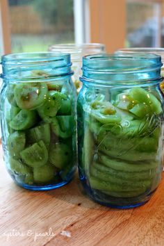 Pickled Green Tomato Recipe - Oysters & Pearls