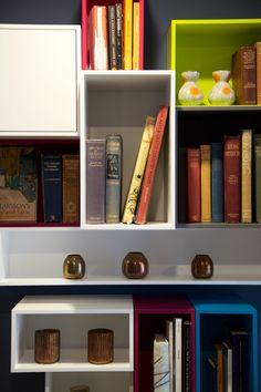 Shelves, storage, colourful
