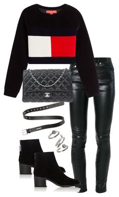 """""""Untitled #3624"""" by theeuropeancloset ❤ liked on Polyvore featuring Yves Saint Laurent, rag & bone, Chanel, Acne Studios and Kendra Scott"""