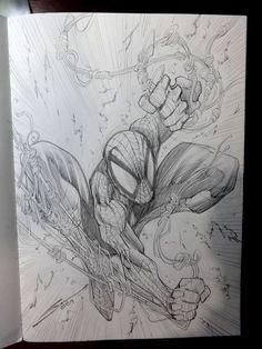 gerardo sandoval - Spider-Man Spiderman Tattoo, Spiderman Drawing, Spiderman Art, Amazing Spiderman, Spiderman Poses, Marvel Comic Universe, Marvel Comics, Marvel Art, Comic Books Art