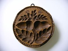 Vintage Cookie Butter Hand-made stamp...Acorns. So wish I could find one one like this.