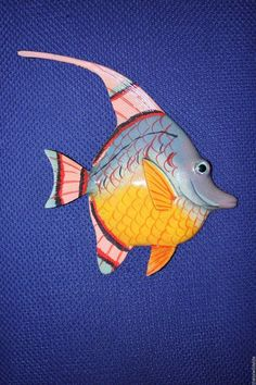 "(1),6"", WALL HANGING FISH,BATH DECOR,CORAL, REEF,NAUTICAL DECOR  ,TROPICAL,#182 #SHORELYYOURS"