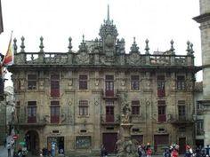 Casa do Cabildo ou fachada-telón. Plaza platerías, Santiago de Compostela