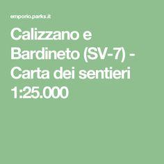 Calizzano e Bardineto (SV-7) - Carta dei sentieri 1:25.000