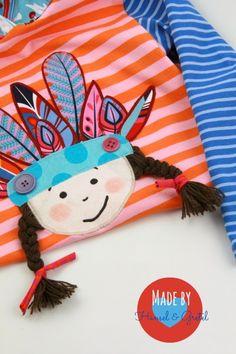 Hänsel & Gretel: ♥ Von Indianern und fliegenden Federn ... ♥ Sewing For Kids, Baby Sewing, Diy For Kids, Quilt Patterns, Sewing Patterns, Baby Quiet Book, Birthday Gifts For Kids, Shirt Embroidery, Baby Decor