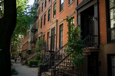 Beautiful brownstones in NYC