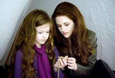 Kristen Stewart and Robert Pattinson in The Twilight Saga: Breaking Dawn - Part 2: Renesmee's Locket