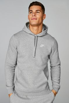 Buy Nike Club Hoody from the Next UK online shop Nike Hoodies For Men, Nike Sweatshirts, Nike Mens Shirts, Men's Hoodies, Grey Nike Hoodie, Grey Nike Sweatpants, Grey Sweatshirt, Nike Clothes Mens, Nike Outfits For Men