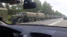 Katonai konvojok a főútakon