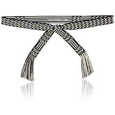 Isabel Marant Étoile Women's Carpet Belt ($65) ❤ liked on Polyvore featuring accessories, belts, woven belt, striped belt, braided belt, fringe belt and stripe belt