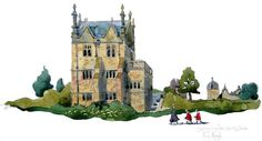 Watercolour painting of Chipping Campden in the #Cotswolds. #art | credit @liamsart