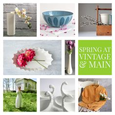 Spring has sprung in the 30+ shops of Vintage and Main!    www.etsy.com/pages/vintageandmain