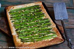 ... asparagus ravioli with pan seared cremini mushrooms pan seared strip