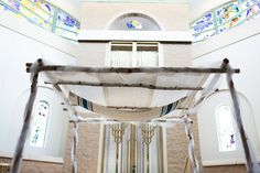 Conservative Jewish Congregational Wedding//synagogue jewish wedding chuppah