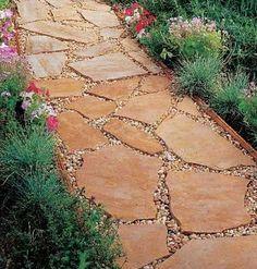 Flagstone Walkway Design Ideas flagstone walkway Walkway I Like The Way The Pebbles Are In The Cracks Between The Large