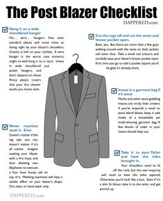 The Post Blazer Purchase Checklist Capsule Wardrobe Men, Tom Ford Suit, Guy, Mens Style Guide, Sharp Dressed Man, Gentleman Style, Mens Clothing Styles, Dress Codes, Stylish Men