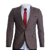 FLATSEVEN Mens Slim Fit Micro Check Premium Blazer Jacket (BJ272)