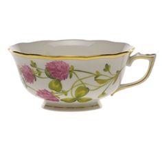 Herend American Wildflowers Red Clover Tea Cup