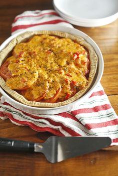 The Chubby Vegetarian: Tomato Pie + Pimento Cheese