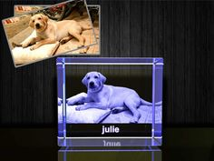 Personalized Custom 3D Photo Etched Engraving on Crystal Loving Gift (Birthday Gift, Wedding Gift, Corporate Gift