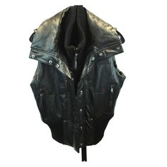 Young fabulous & broke LEATHER vest! Rocker chic Butter soft leather. Zips and buttons, hidden pocket on the inside, 2 zip pockets on the front. Huge collar. Very flattering on the waist! So fab! Has small rip. See pictures. Young Fabulous & Broke Jackets & Coats Vests