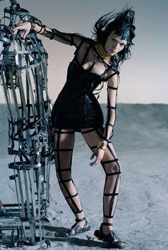 Like a Warrior' Mariacarla Boscono by Tim Walker for Vogue Italia March 2014