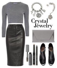 """Crystal Jewelry"" by helenevlacho ❤ liked on Polyvore featuring Oscar de la Renta, Joseph, Glamorous, H&M, Noee, Bobbi Brown Cosmetics, contestentry and crystaljewelry"