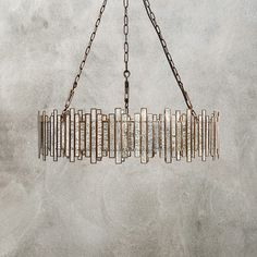 Shop for contemporary chandelier lighting at Arhaus. Our unique chandeliers are a perfect way to brighten up your living or dining room. Dining Chandelier, Iron Chandeliers, Rustic Chandelier, Dining Room Lighting, Glass Chandelier, Home Lighting, Chandelier Lighting, Lighting Design, Antique Mirror Glass