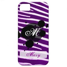Zebra print Grunge iPhone case