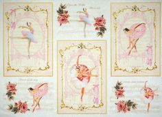 Rice Paper for Decoupage Decopatch Scrapbook Craft Sheet Vintage Ballet Dancer
