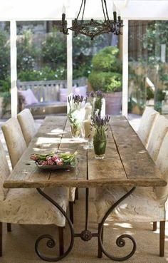 Table pour la terrasse.  Ceci me donne une idée