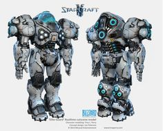 A next gen marine I made for Heart of the Swarm realtime cutscenes. Combat Suit, Combat Armor, Robot Concept Art, Armor Concept, Armadura Sci Fi, Tank Drawing, Big Robots, Starship Troopers, Suit Of Armor