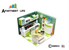 LEGO Apartment life - Kitchen